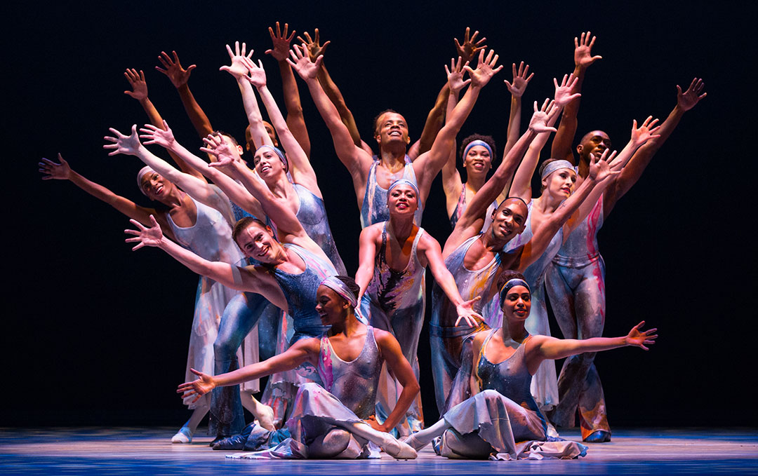 Alvin Ailey American Dance Theater in Alvin Ailey's Night Creature. Photo by Rosalie O'Connor
