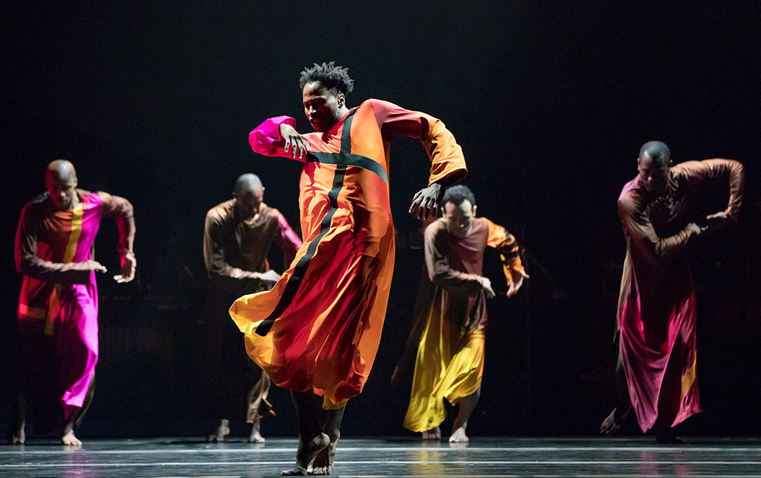 Alvin Ailey American Dance Theater in Robert Battle's Mass. Photo by Paul Kolnik