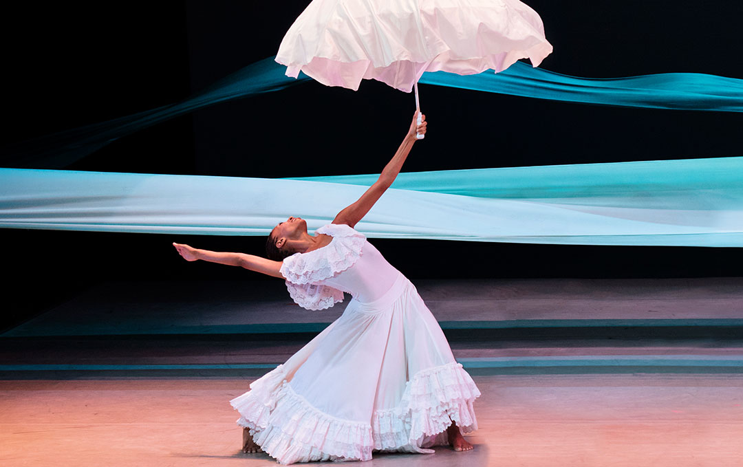 Jacqueline Green in Alvin Ailey's REVELATIONS. Photo by Paul Kolnik
