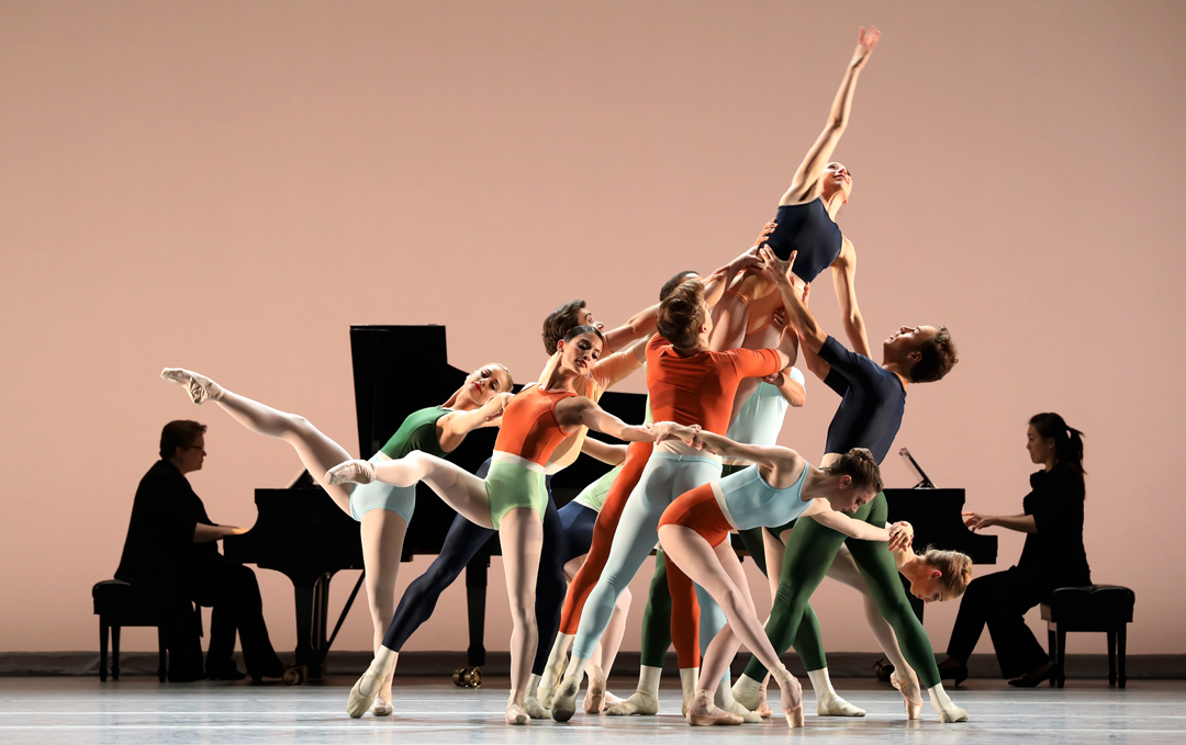 Artists of Houston Ballet in Justin Peck's Reflections, photo by Amitava Sarkar