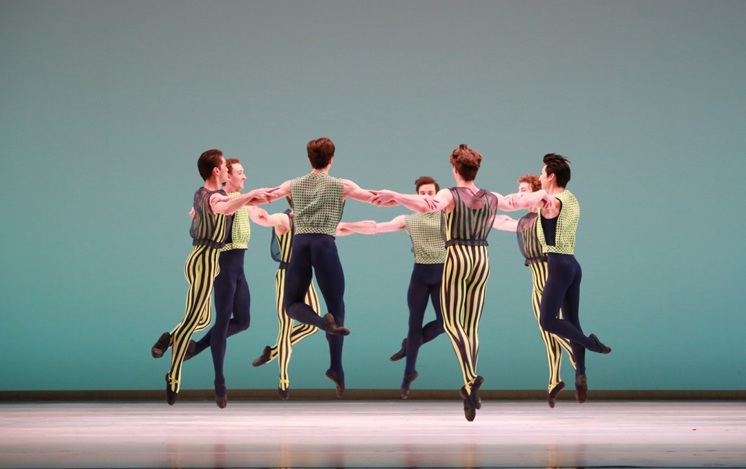 Artists of Houston Ballet in Mark Morris's The Letter V, photo by Amitava Sarkar