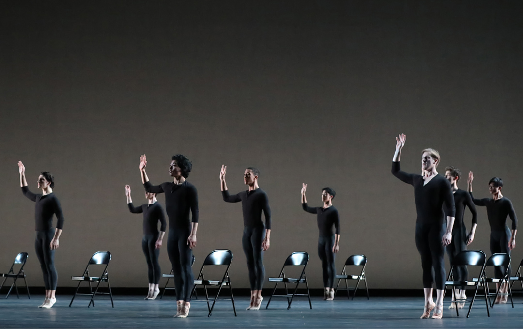 Artists of Houston Ballet in Aszure Barton's Come In, photo by Amitava Sarkar