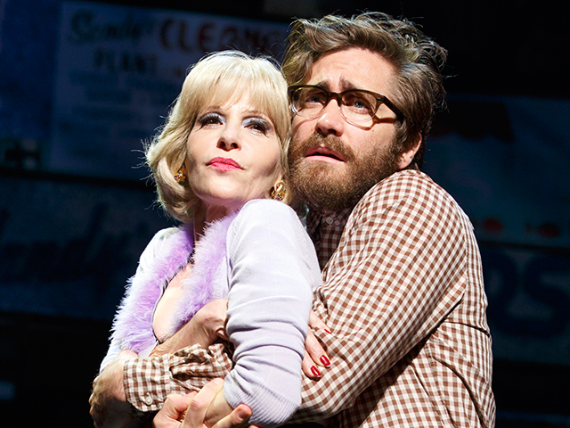 Ellen Green and Jake Gyllenhaal in Little Shop of Horrors; photo by Joan Marcus