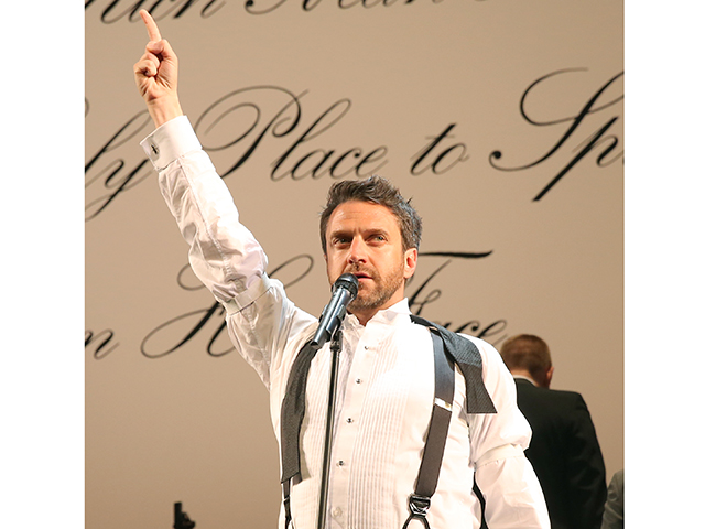 Raul Esparza in The Cradle Will Rock; photo by Joan Marcus