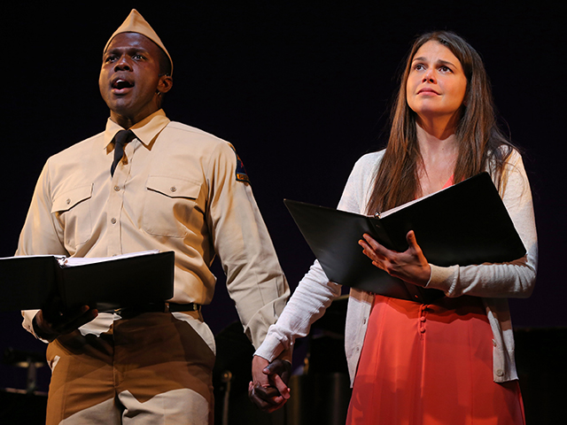 Joshua Henry and Sutton Foster in Violet; photo by Joan Marcus